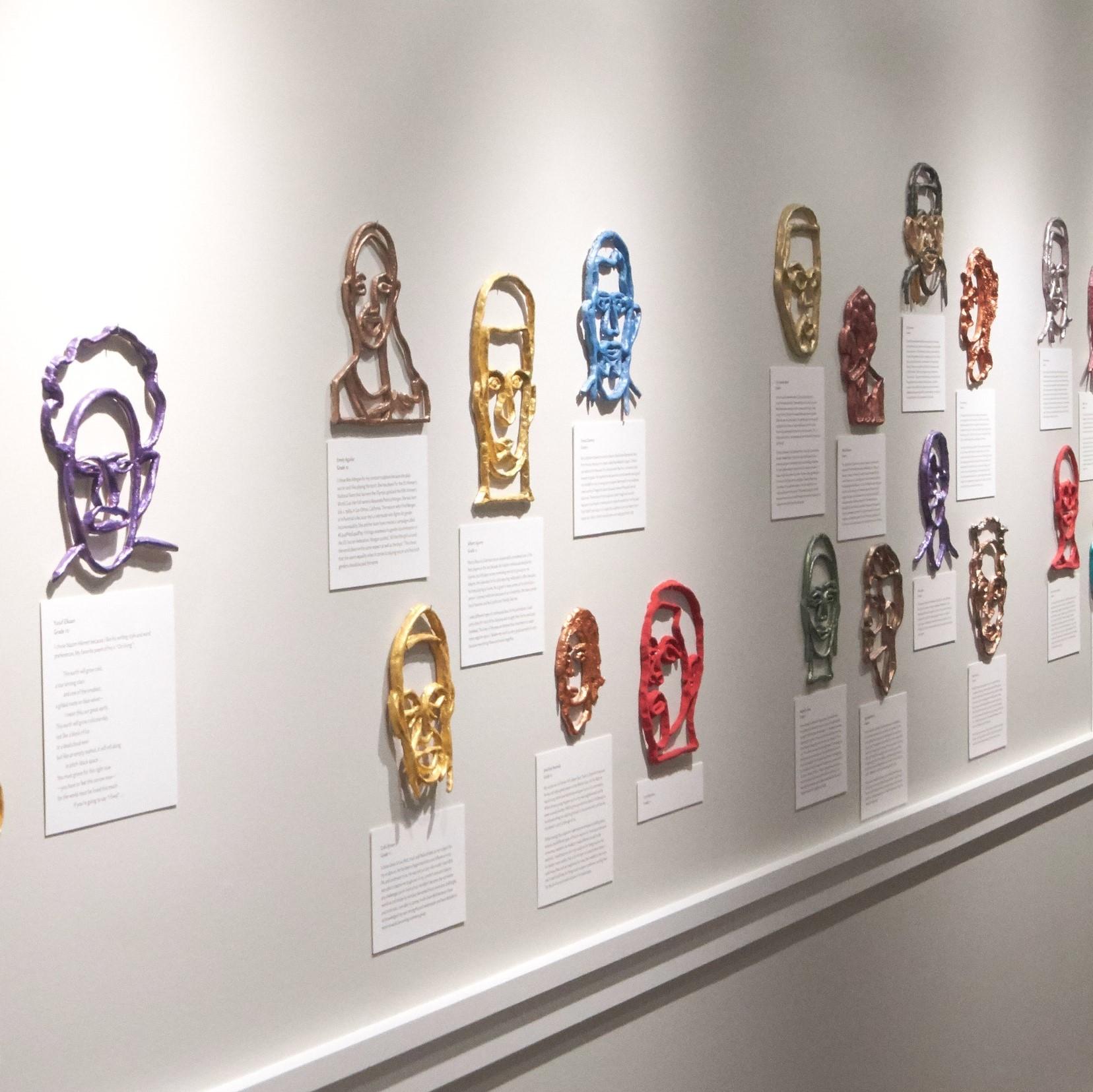 Exhibition View of Clay Contour Portraits